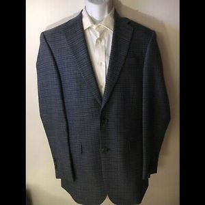 J.A. Bank Traditional Fit Blue Check Sportcoat 38L